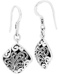 Lois Hill - Silver Drop Earrings - Lyst