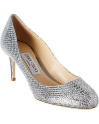 Jimmy Choo - Bridget 65 Glitter Round Toe Pump - Lyst