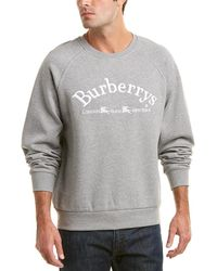 Burberry - Logo-embroidered Cotton-jersey Sweatshirt - Lyst