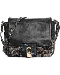 8e35ace30a1c Lanvin - Black Embossed Metallic Leather For Me Shoulder Bag - Lyst