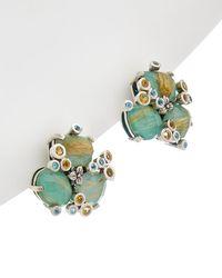 Stephen Dweck - Borealis Silver Gemstone Earrings - Lyst