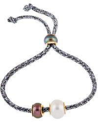 Splendid - Gold Over Silver 7-8mm Freshwater Pearl Bracelet - Lyst
