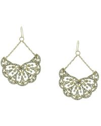 Sparkling Sage - 14k Plated Resin Drop Earrings - Lyst