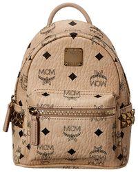 MCM - Stark Side Studs Bebe Boo Mini Visetos Backpack - Lyst