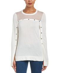 BCBGMAXAZRIA - Slit Sleeve Sweater - Lyst