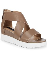 Steven by Steve Madden - Kade Leather Crisscross Sandal - Lyst