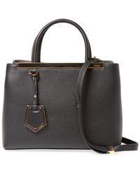 0b1daed2356 Lyst - Fendi Leather Handbag Shopping Bag Purse Petite 2jours Square ...