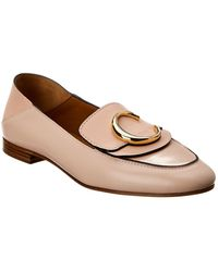 Chloé - C Leather Loafer - Lyst