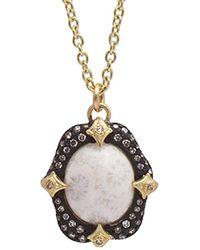 Armenta - New World Silver 4.62 Ct. Tw. Diamond & Bone Necklace - Lyst