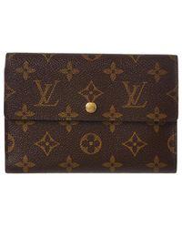 2414d48cb5f7 Louis Vuitton - Monogram Canvas Porte Tresor Etui Papier Wallet - Lyst