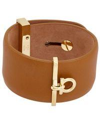 Ferragamo - Gancini Leather Cuff - Lyst