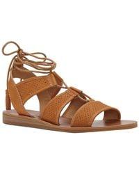 Lucky Brand - Brenny Leather Sandal - Lyst