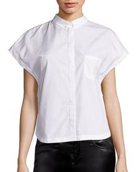 Giamba - Lace-embroidered Poplin Blouse - Lyst