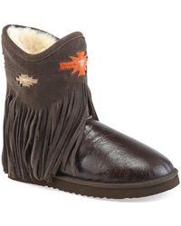 Koolaburra - Women's Haley Ankle Deco Fringe Boot - Lyst