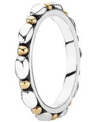 Pandora | Opposites Attract 14k & Silver Ring | Lyst