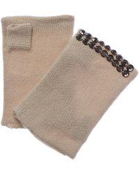 Portolano - Yogi Ivory Cashmere Fingerless Gloves - Lyst