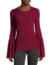 BCBGMAXAZRIA - Wool-blend Bell Sleeve Jumper - Lyst