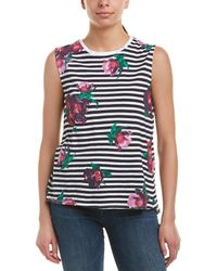 French Connection - Jude Flower Stripe Tank - Lyst