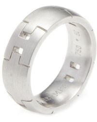 Hermès - Vintage Alliance Herakles White Gold Ring - Lyst
