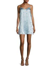 Anna Sui - Deco Textured Circle Slip Dress - Lyst
