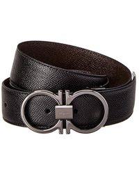 Ferragamo - Reversible & Adjustable Double Gancio Leather Belt - Lyst