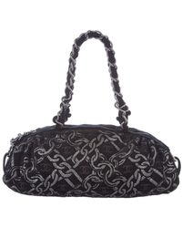 Chanel - Black Tweed Bowler Bag - Lyst