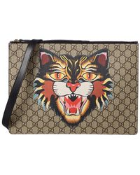 Gucci - Gg Angry Cat Supreme Canvas Messenger - Lyst