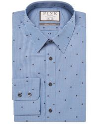 Thomas Pink - Linden Spot Slim Fit Dress Shirt - Lyst
