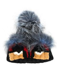 Fendi - Multicolor Mink & Shearling Fur Monster Hat - Lyst