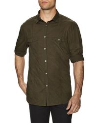 John Varvatos - Collection Dyed Slim Fit Sportshirt - Lyst
