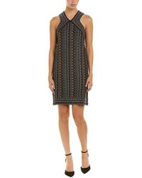 BCBGMAXAZRIA - Blocked Halter Dress - Lyst