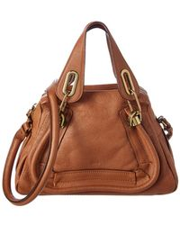 Chloé - Brown Leather Small Paraty - Lyst
