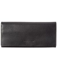 Longchamp Le Foulonne Leather Continental Wallet