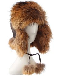 Belle Fare - Trapper Fox Hat - Lyst
