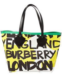 Burberry - Giant Reversible Graffiti Print Tote - Lyst