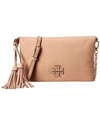 Tory Burch - Mcgraw Chain Fold-over Leather Crossbody - Lyst