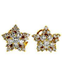 Heritage Tiffany & Co. - Tiffany & Co 18k 3.00 Ct. Tw. Diamond Star Earrings - Lyst