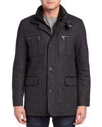 Cole Haan - Signature Melton Wool-blend Coat - Lyst