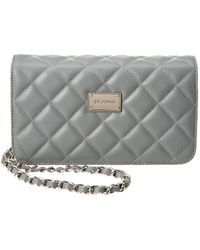 St. John - Quilted Leather Crossbody - Lyst