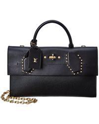 Louis Vuitton - Black Leather Pochette Steamer - Lyst