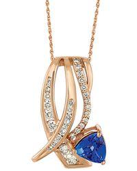Le Vian - ® 14k Rose Gold 1.59 Ct. Tw. Diamond & Tanzanite Necklace - Lyst