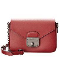 551424e3cb3c Longchamp - Le Pliage Heritage Chain Small Leather Crossbody - Lyst