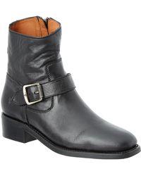 Frye - Women's Hannah Leather Engineer Boot - Lyst