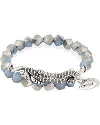 ALEX AND ANI - Deep Sea Navy Seahorse Wrap Bracelet - Lyst