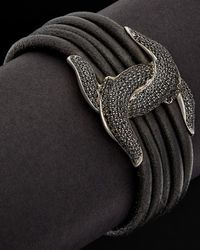 Scott Kay - Guardian Silver 1.50 Ct. Tw. Spinel Leather Bracelet - Lyst