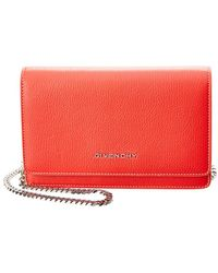 Givenchy - Pandora Leather Wallet On Chain - Lyst