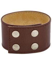 Louis Vuitton - Burgundy Monogram Mat Vernis Leather Bracelet - Lyst