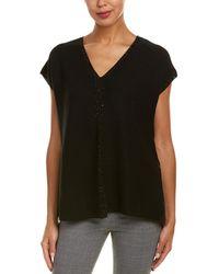 Lafayette 148 New York - V-neck Relaxed Silk-blend Sweater - Lyst