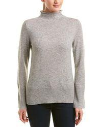 White + Warren - Wool & Cashmere-blend Funnel Neck Pullover - Lyst