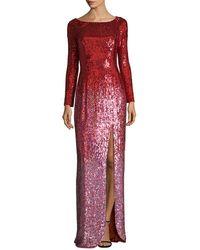 Jenny Packham - Silk Sequin Gown - Lyst